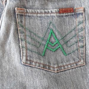 """RARE 28x31 """"A"""" JEANS 7 FOR ALL MANKIND"""